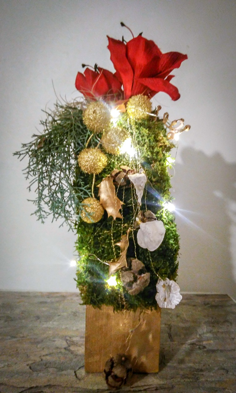 Composition de Noël lumineuse