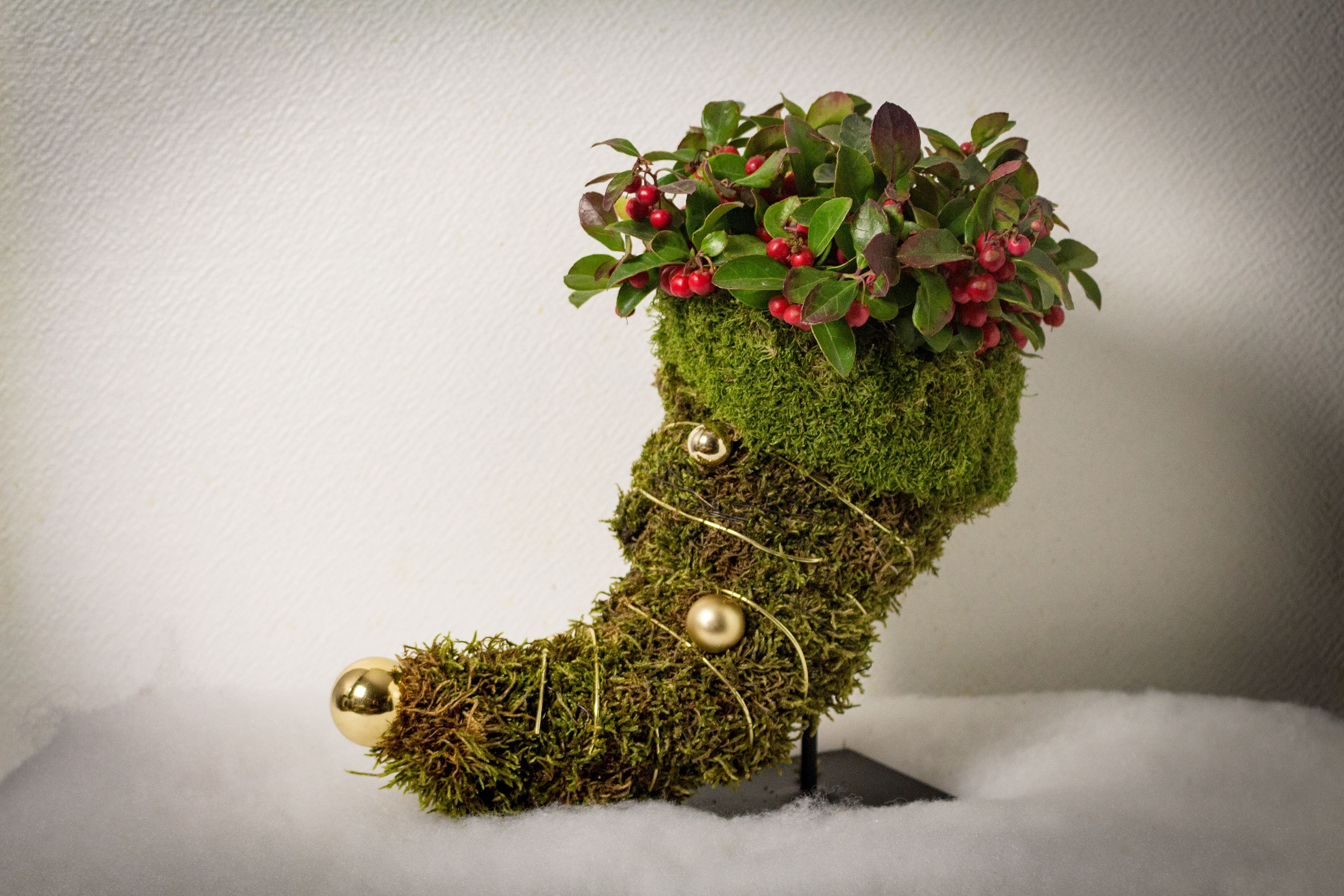 Botte fleurie de Noël