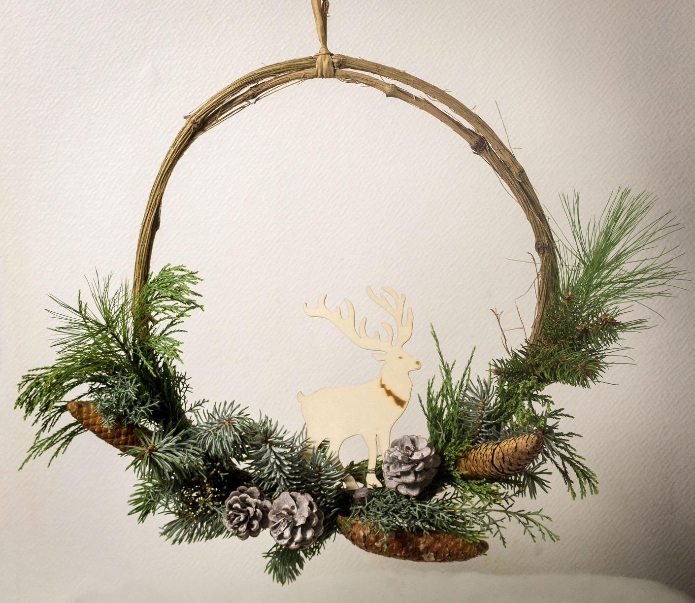 Couronne de porte de Noël