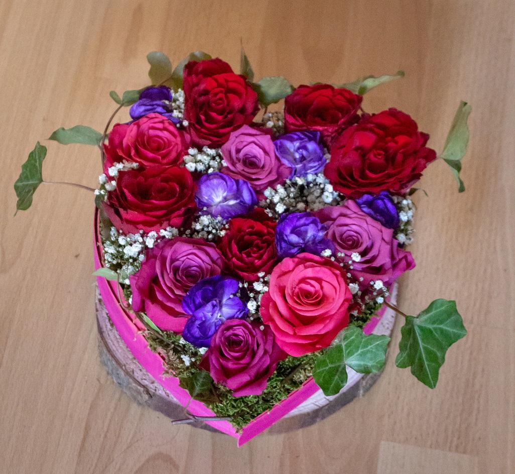 Cœur roses