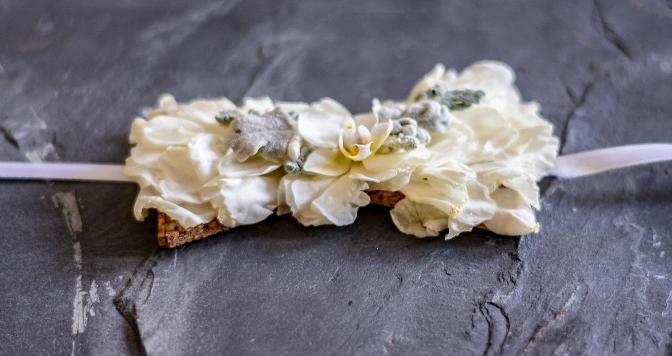 Nœud papillon fleuri mariage