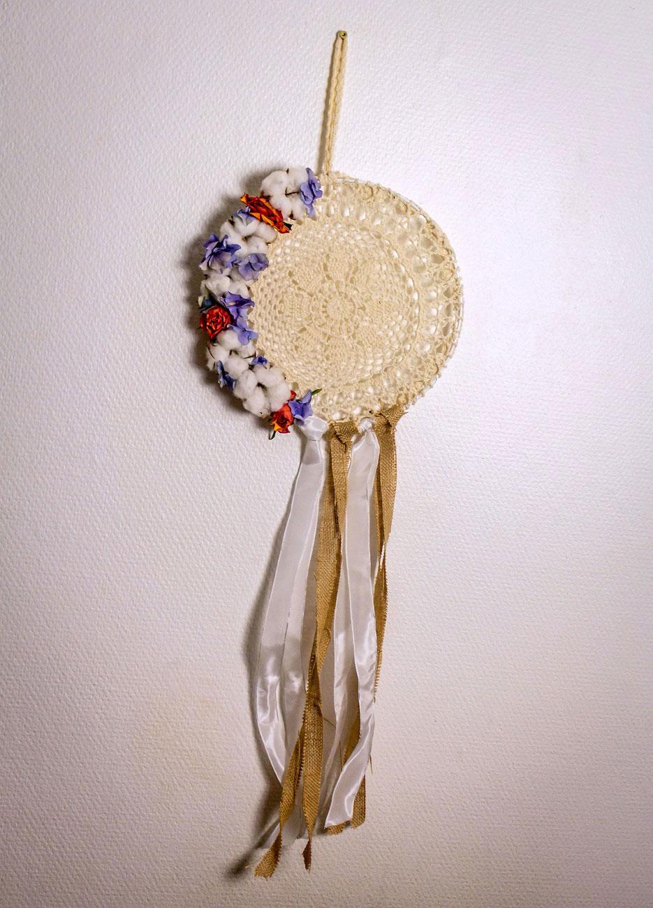 Attrape-rêve fleuri