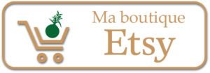 Ma boutique de kokédamas en ligne Etsy