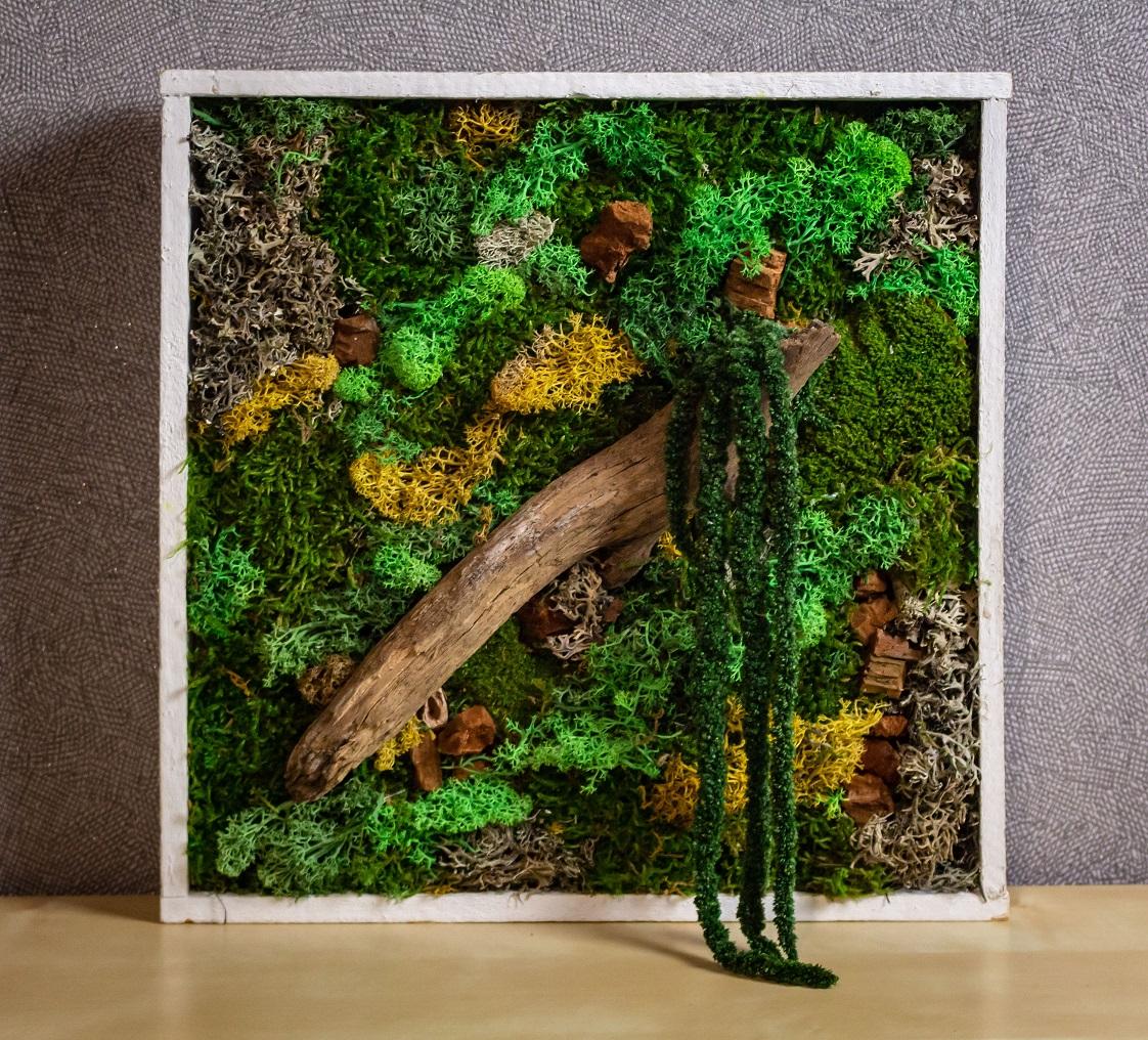 Tableau végétal carré