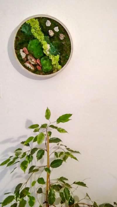 Tableau végétal rond