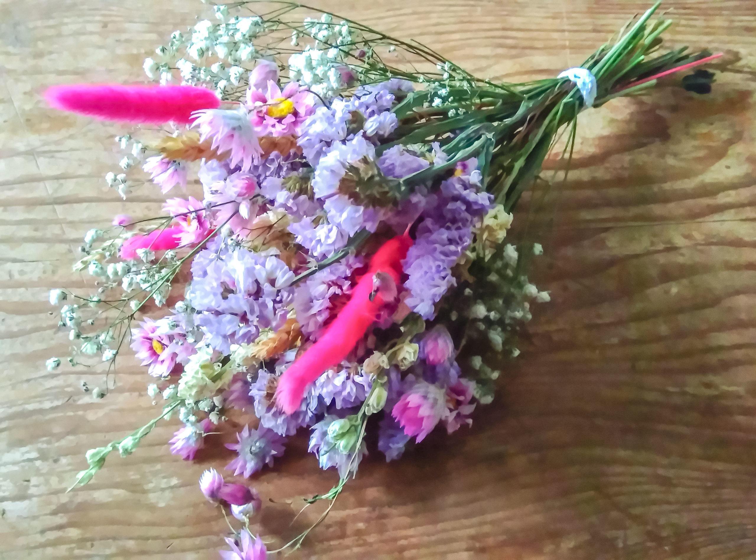 Bouquet de fleurs séchées Nacre