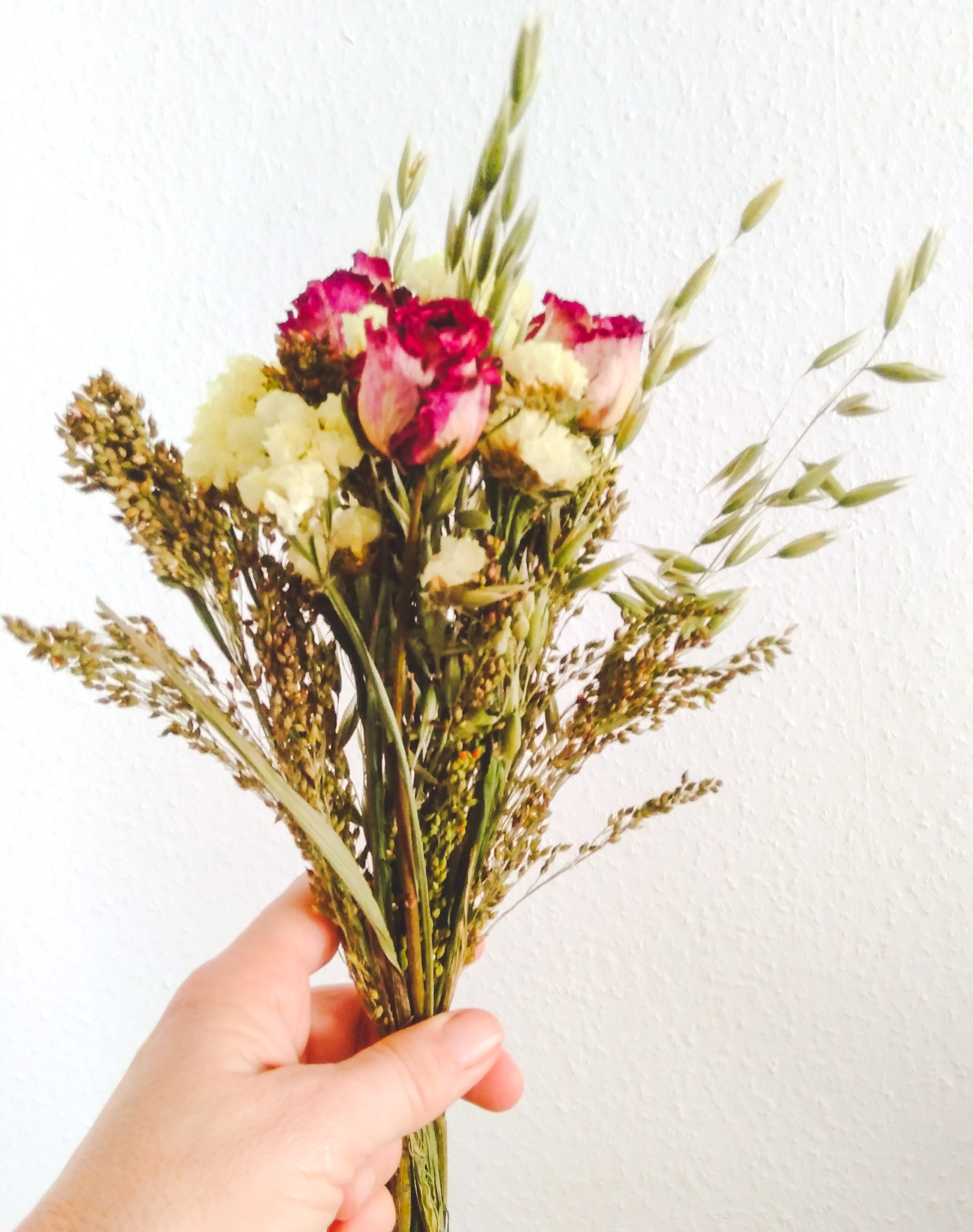 Bouquet de fleurs séchées Rosa